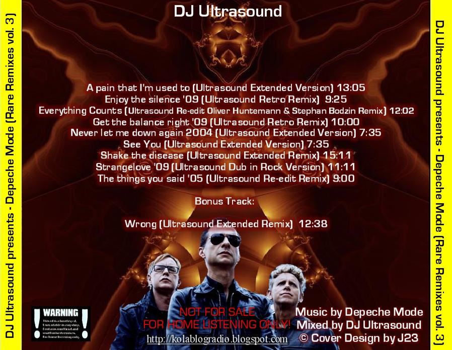 DJ Ultrasound presents – Depeche Mode (Rare Remixes vol  3) | Dj